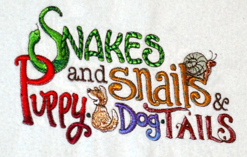 Snakes And Snails And Puppy Dog Tails Poem