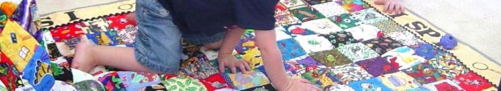 Robert spies his quilt.