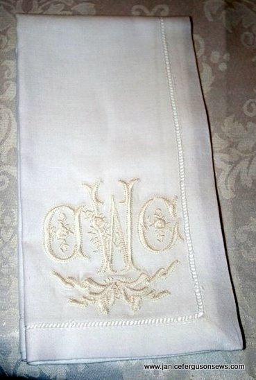 monogrammed linen napkins for white wednesday | janice ferguson sews