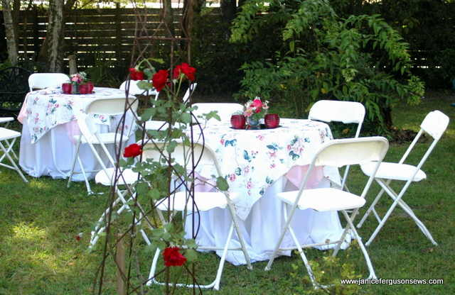 wedding side yard tables