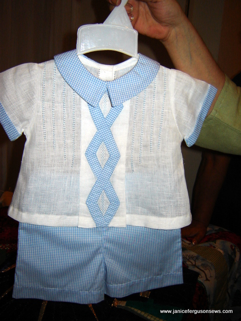 two-piece boy's suit of linen and pima cotton