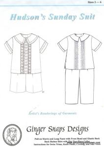 GingerSnaps shirt pattern