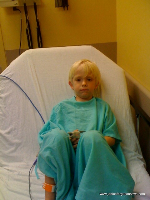 Robert in the ER after his breathing was stabilized