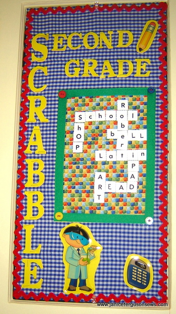 Robert's 2nd grade bulletin board