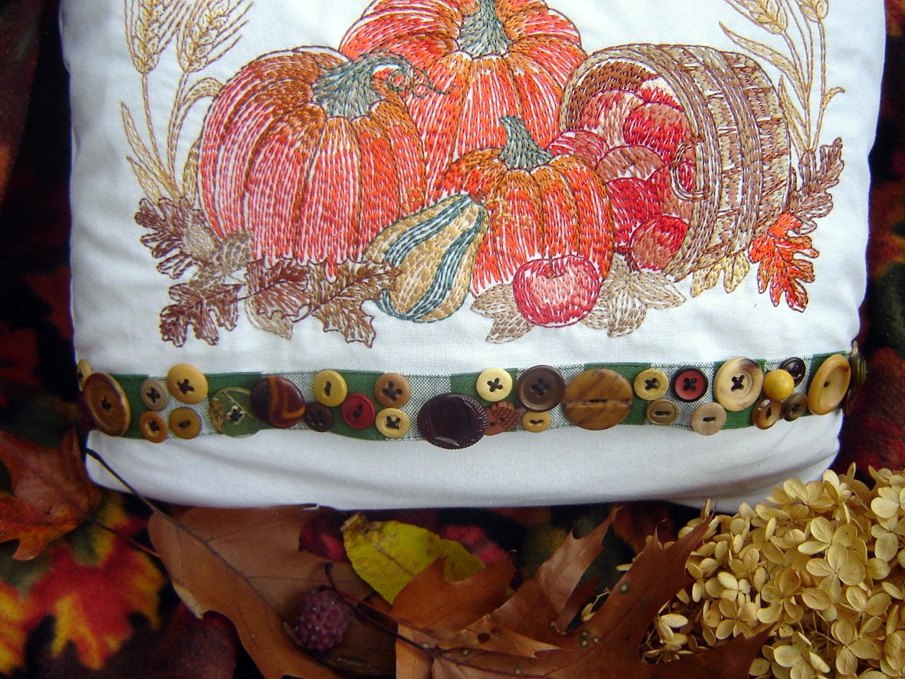 Fall Pumpkin Pillow Janice Ferguson Sews