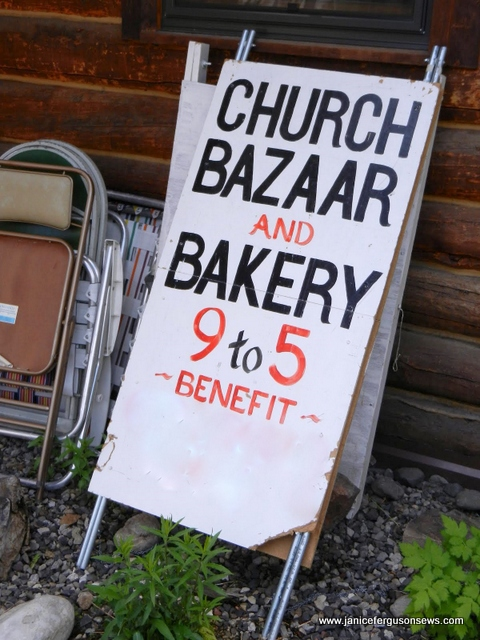 church bazaar sign