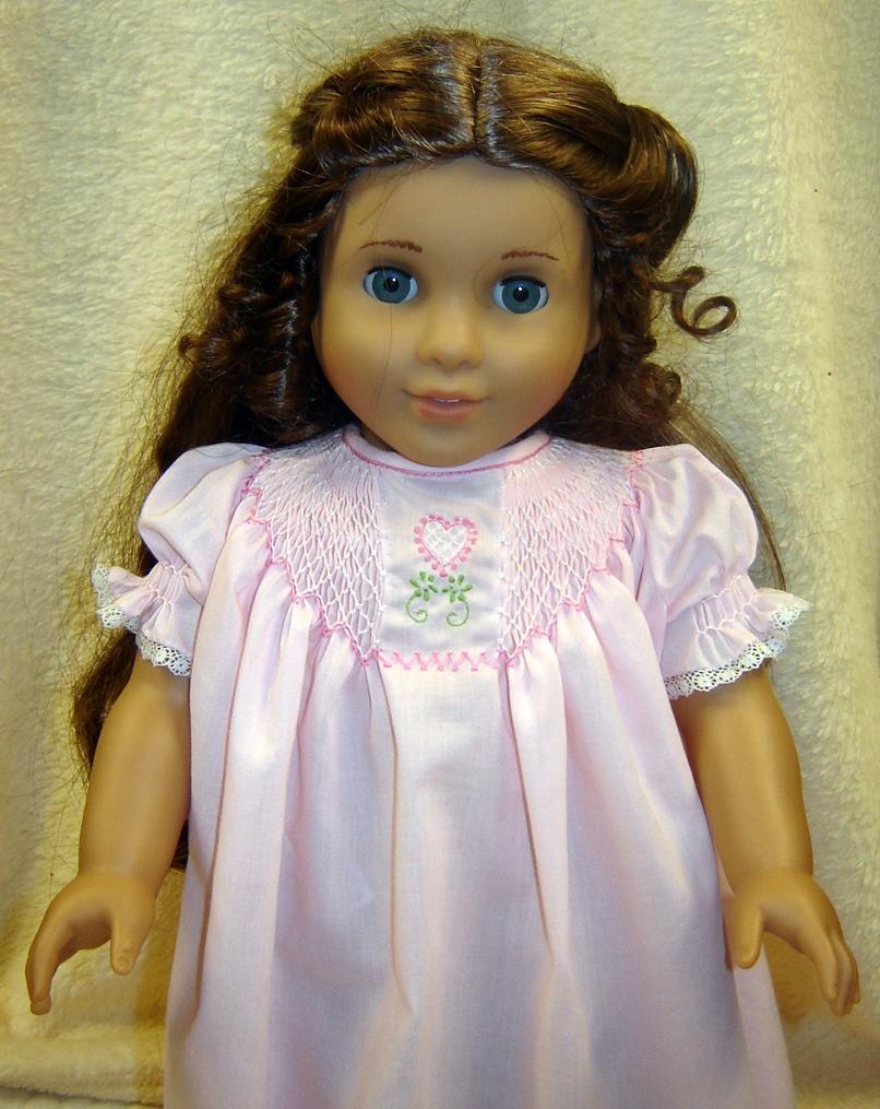 American girl doll marie grace in her valentine nightie