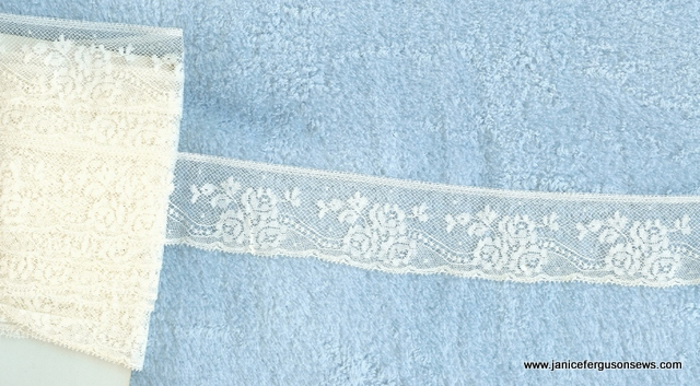 "French Val edging, 1-1/4"" wide"
