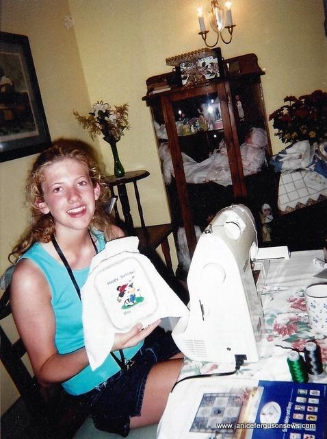 Jordan sews