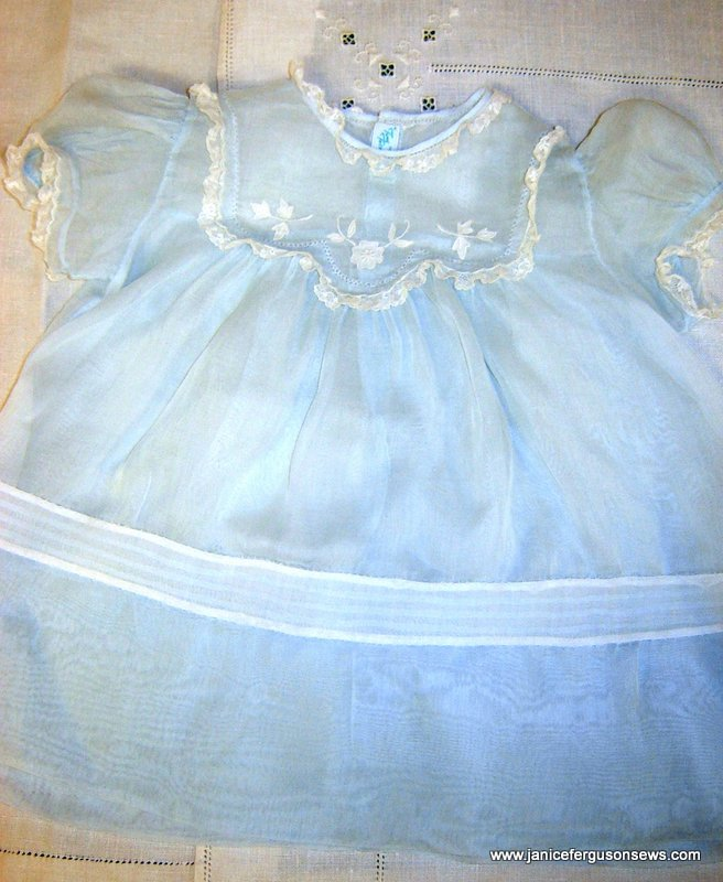 circa 1940 organdy baby dress