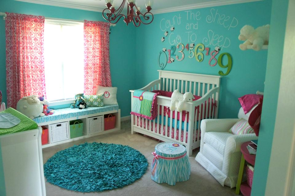 They Began With Plan A Painted The Walls Bright Turquois Lime Green For Trim When It Was That This Baby To Be Feminine Little Olivia