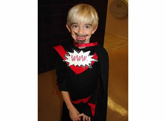 """Wicked Warlock of the West with his """"evil moustache."""" his line was """"but you can call me Dot."""""""
