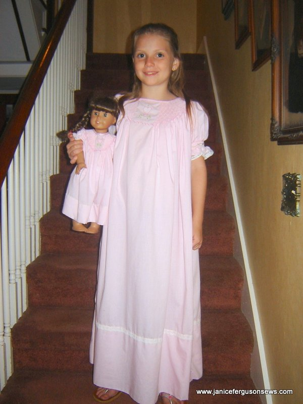 Smocked Nighties for 2 American Girls | Janice Ferguson Sews