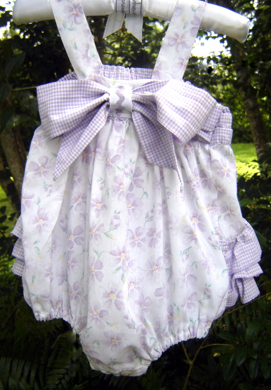 #61  Sweet Baby Jane bubble, 3-6 months, $14.  For more photos and details, see