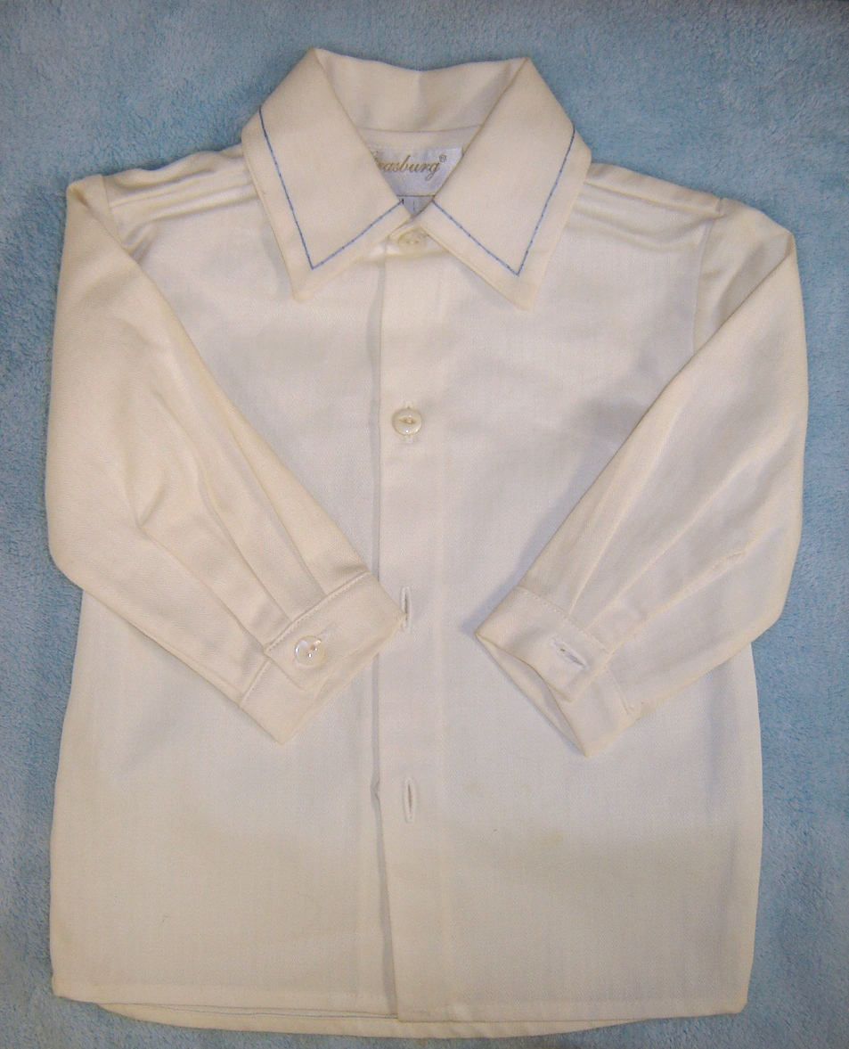 heavy cotton twill shirt came with overall at purchase.