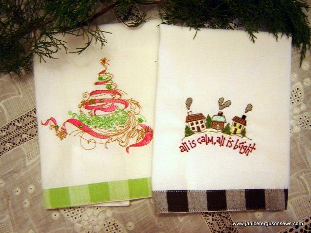 2 towels tree calm