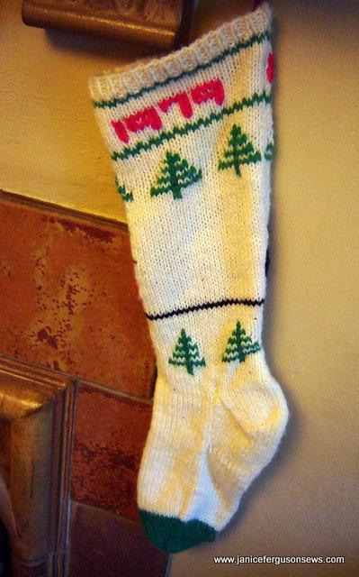 back of Ryan's 1979 stocking