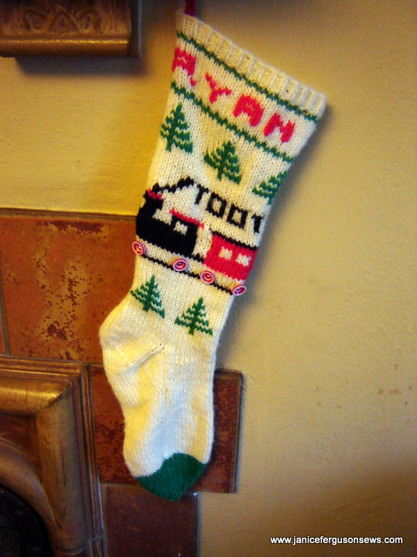 my son's stocking, made when he was 4