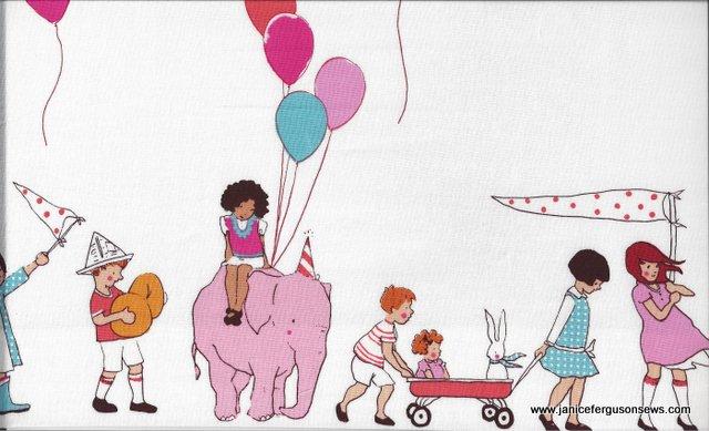 children parade fabric