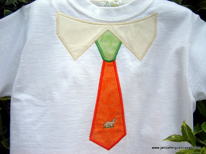 tie design from Linnie Pinnie, with single bunny from