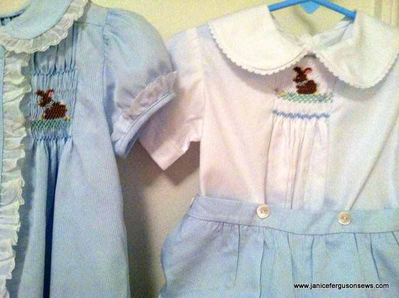 Smocking plate is Bunny Luv by Ellen McCarn