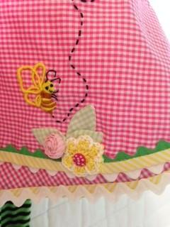 pink gingham hemline