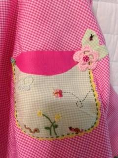 pink gingham pocket