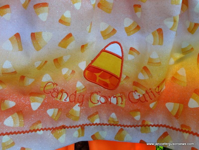 candy corn emb