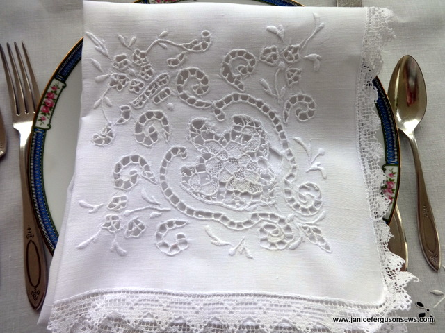 cutwork white close