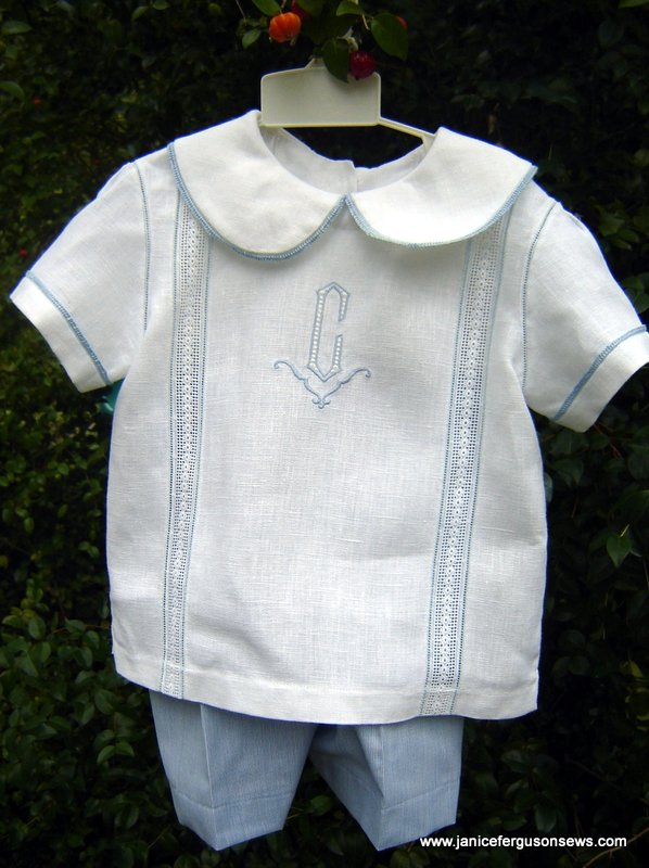 Another hurry-up outfit, made for my grandson Alastair.