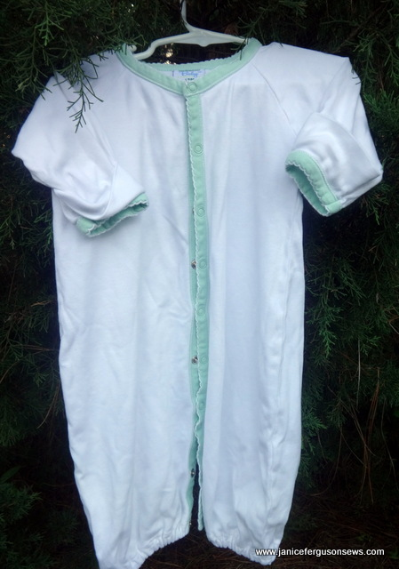 $10 Martha Pullen soft-as-butter knit baby sleeper. size 18 months.  Pre-washed but not worn.  Ready for embroidery. Or not.