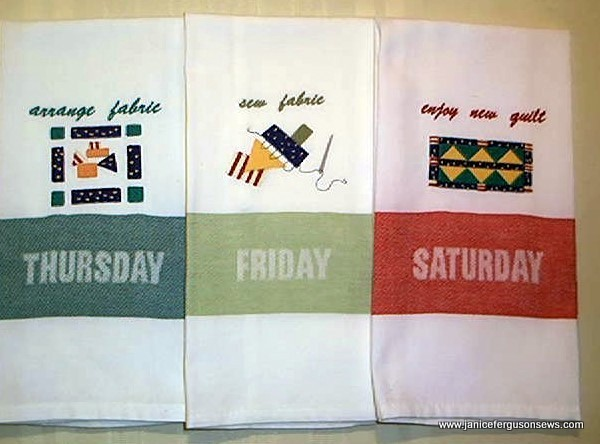 It helps a quilter schedule a perfect week.