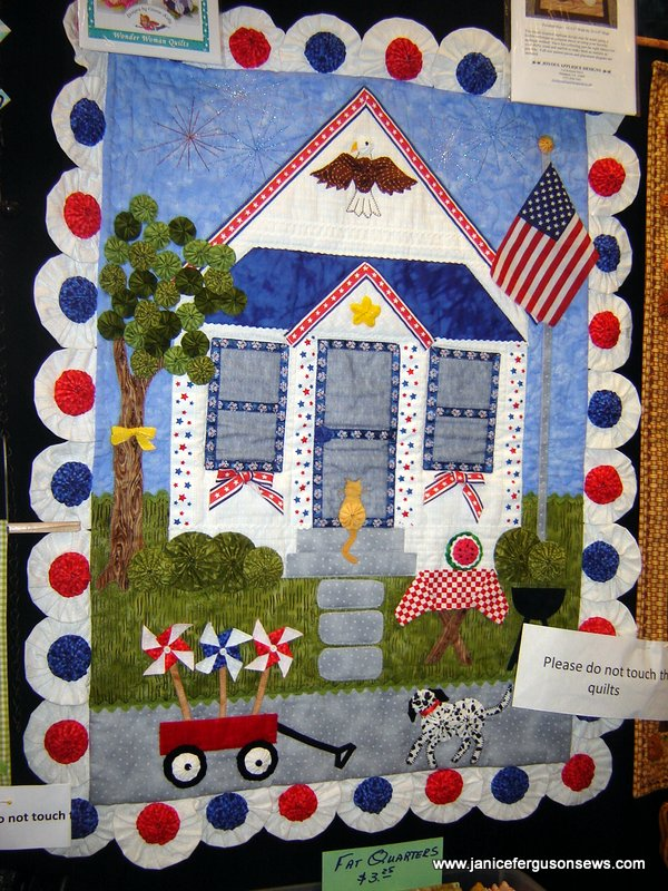 Marcia Layton's quilt from her pattern Patriot's Corner