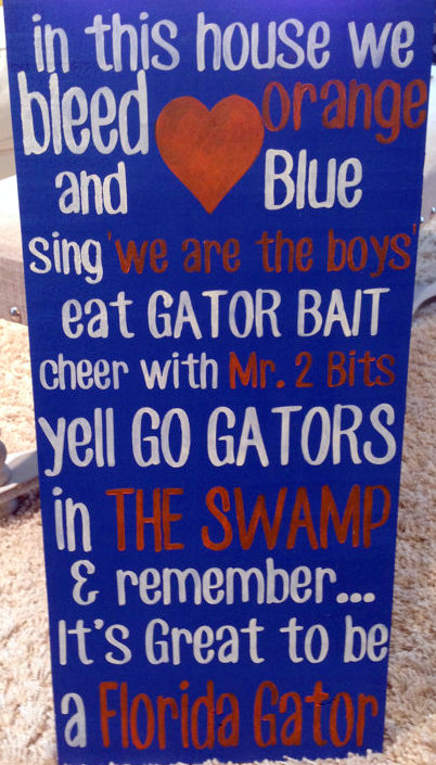 FL gator sign