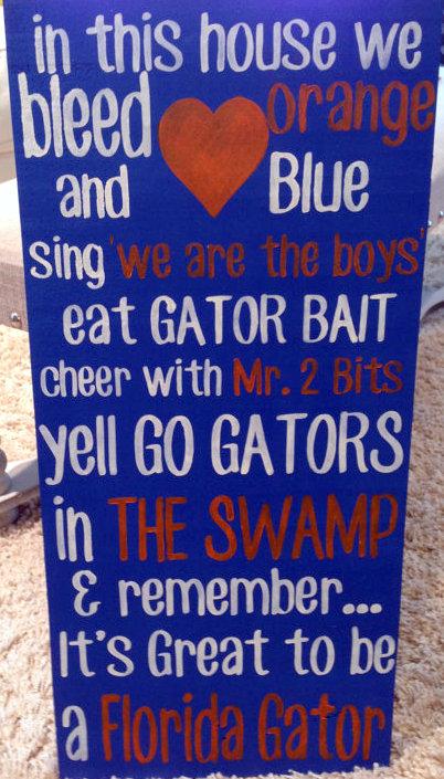 FL gator sign