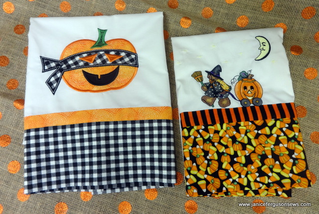 The Ninja pumpkin design is from XXXand the witch -costumed koala is from an old Amazing Designs collection, Seasonal Daisy Kingdom.