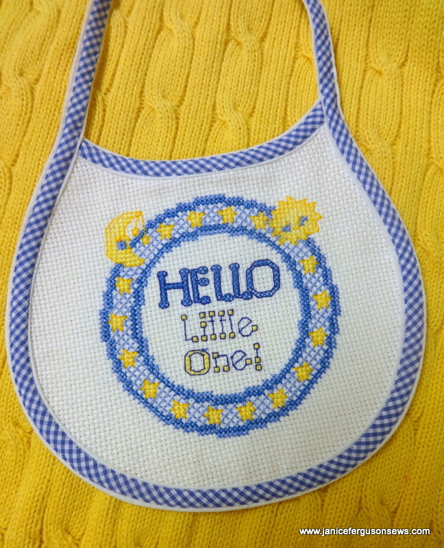 From ho-hum plain to sweet with the help of machine embroidery and spaghetti bias.