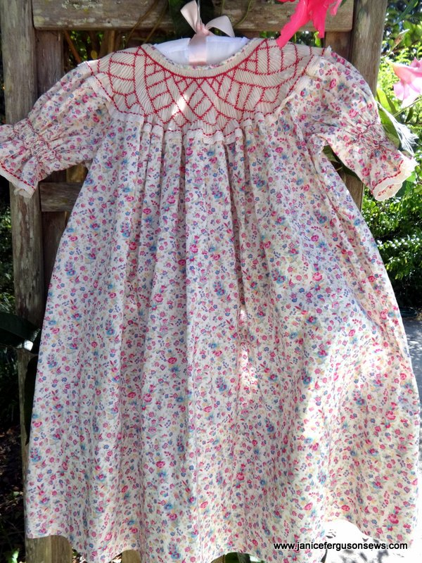 """$20 + postage for Liberty tana lawn smocked """"novelty"""" bishop, size 3. Used but in good condition."""