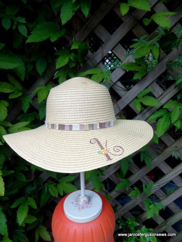 Zahra's monogrammed hat