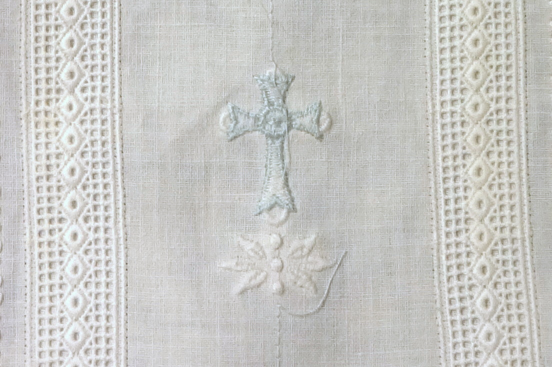 Brother cross from iBroidery.com and white floral from Nivia's The Littles.