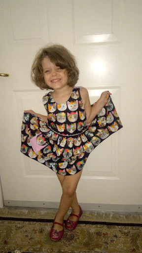 Apparently Vivian Rose likes her Too many Cats dress..