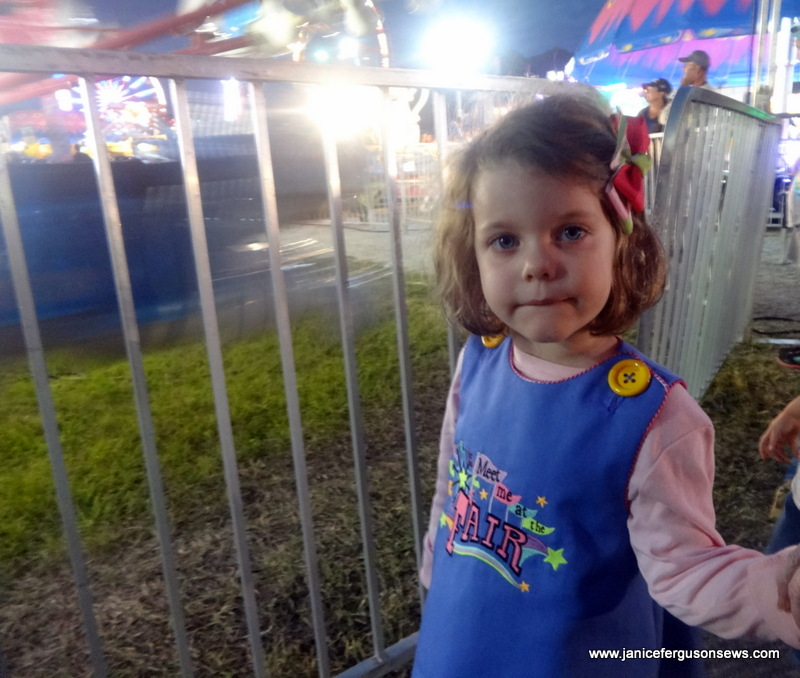 Having just arrived at her first fair, granddaughter Vivian Rose was awestruck.